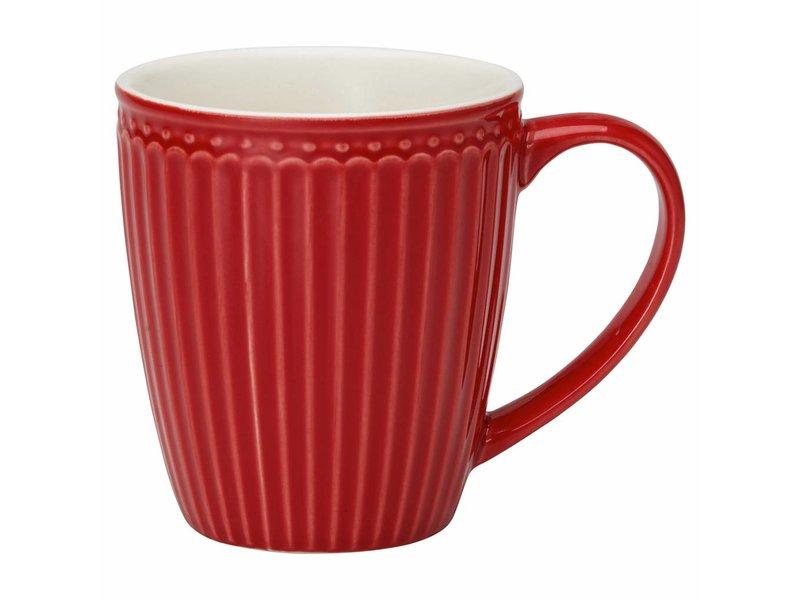 "GreenGate Henkelbecher Mug ""Alice"" red"