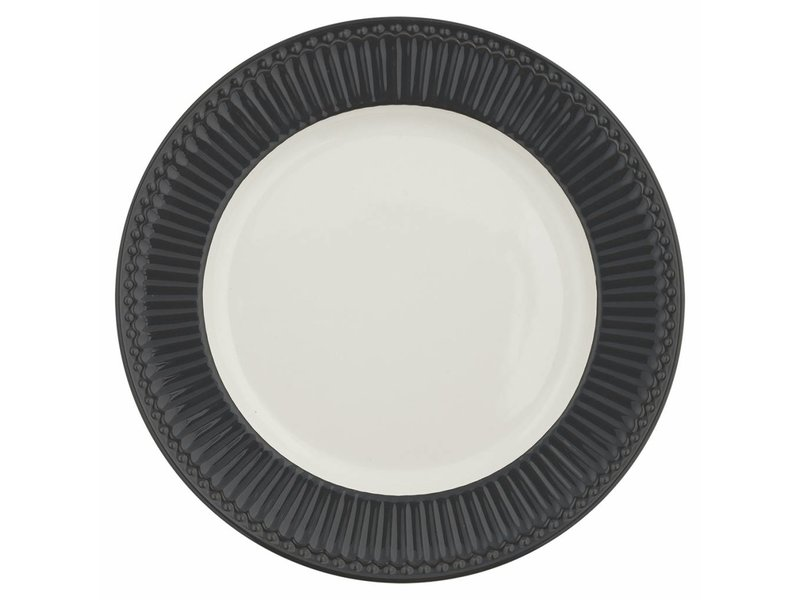 "GreenGate Essteller ""Dinner plate Alice"" dark grey"