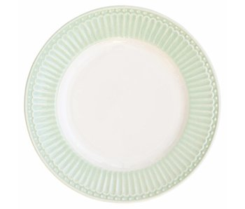 "GreenGate Kuchenteller ""Plate small Alice"" pale green"