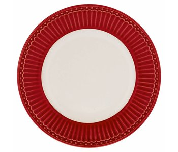 "GreenGate Kuchenteller ""Plate small Alice"" red"