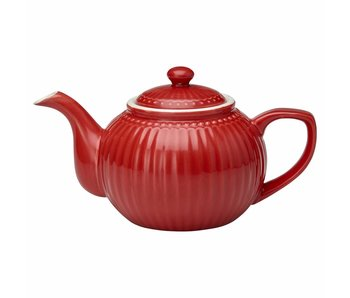 "GreenGate Teekanne ""Teapot Alice"" red"