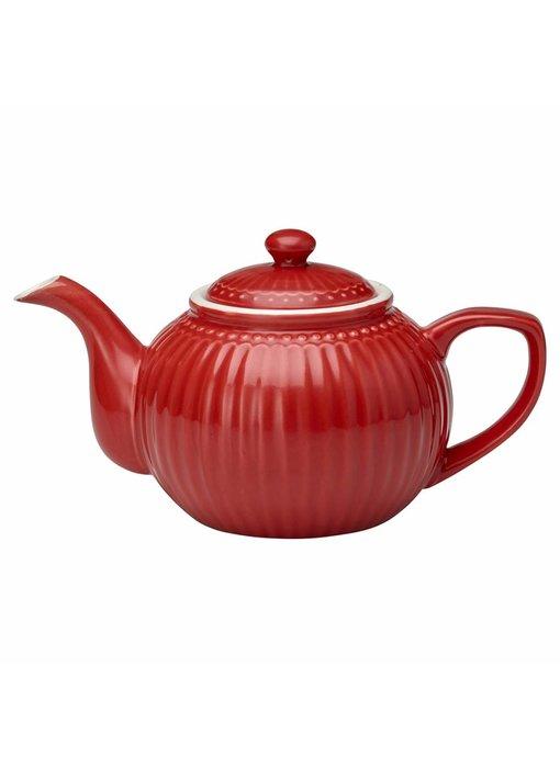 "GreenGate Teekanne ""Teapot Alice"" red"