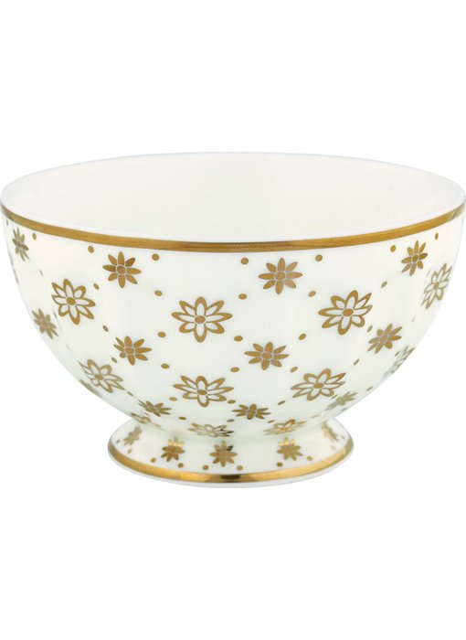 """GreenGate French bowl medium """"Laurie gold"""" NBC"""