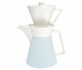 "GreenGate Kaffeekanne mit Filter ""Alice"" pale blue"