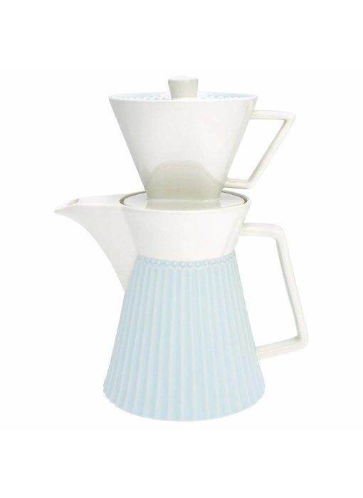 """GreenGate Kaffeekanne mit Filter """"Alice"""" pale blue"""
