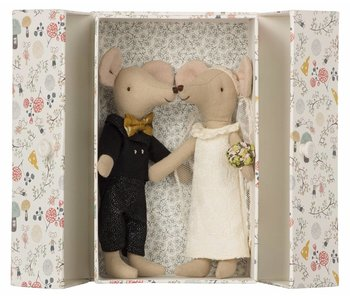 Maileg Mäuse Hochzeit mit Schachtel