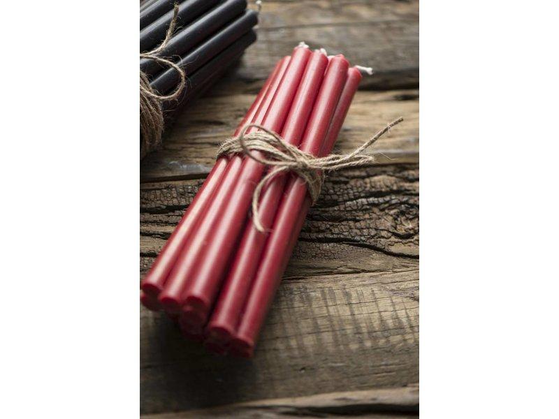 IB LAURSEN Schmale hohe Kerze, rot