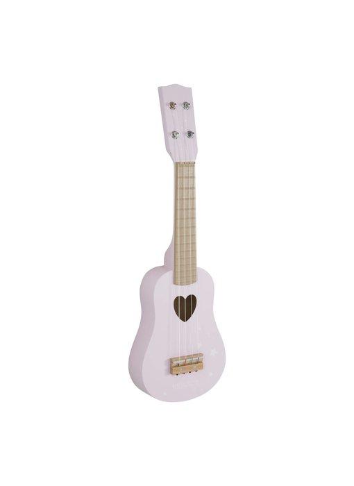 Little Dutch Holz-Gitarre, Pink
