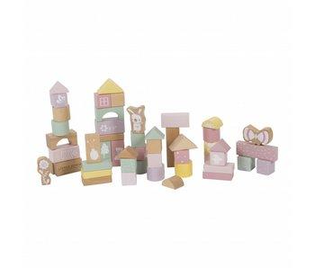 Little Dutch Holzbausteine in Box, adventure pink