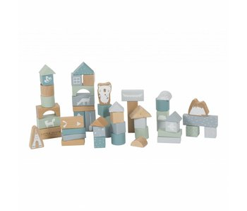 Little Dutch Holzbausteine in Box, adventure blue