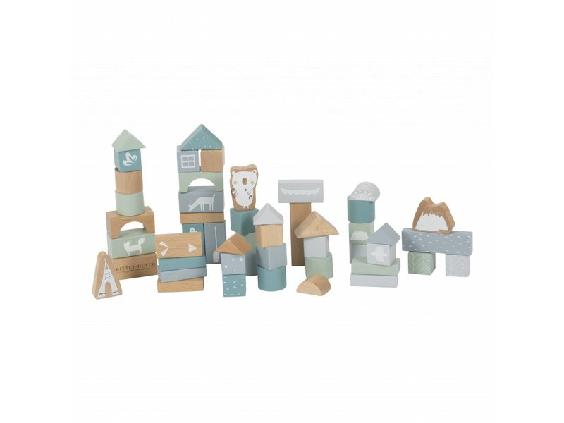 Little Dutch Holzbausteine in Box, adventure blue