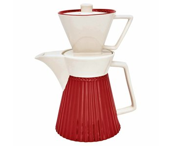 "GreenGate Kaffeekanne mit Filter ""Alice"" red"