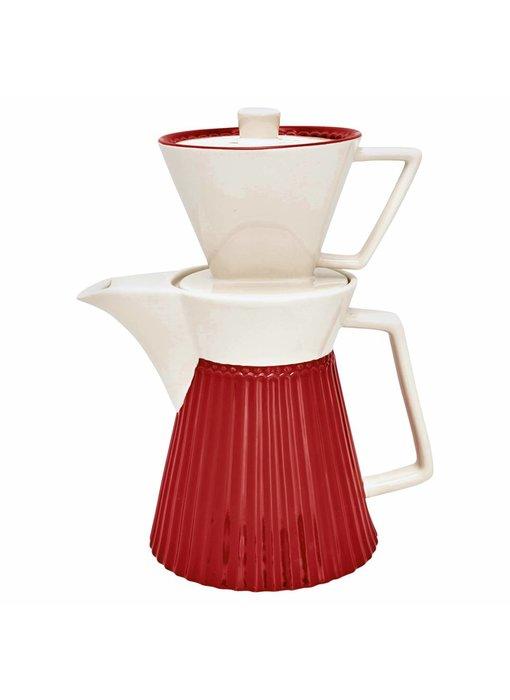 "GreenGate Kaffeekanne mit Filter ""Alice"" red"