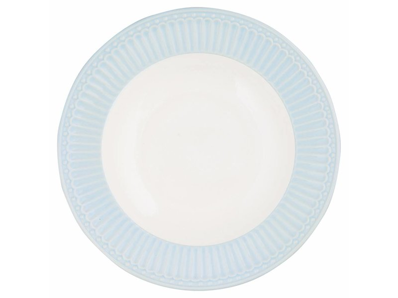 "GreenGate Tieferteller ""Deep plate Alice"" pale blue"