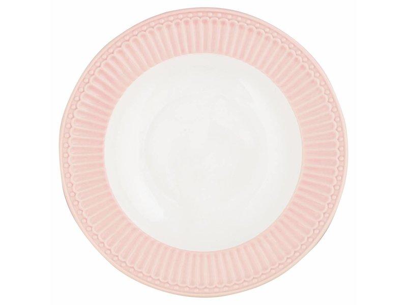 """GreenGate Tieferteller """"Deep plate Alice"""" pale pink"""