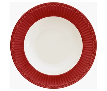 "GreenGate Tieferteller ""Deep plate Alice"" red"