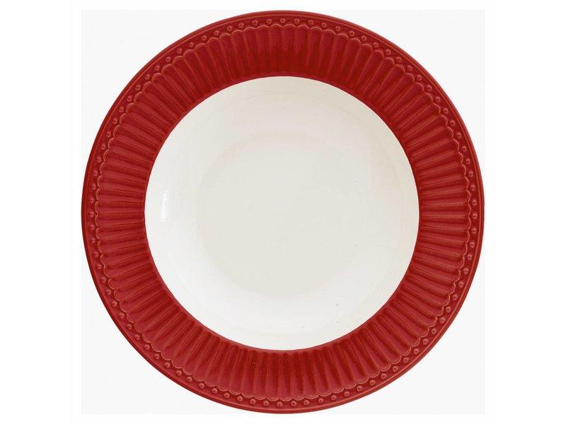 """GreenGate Tieferteller """"Deep plate Alice"""" red"""