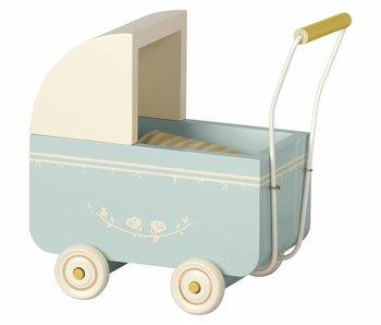 """Maileg Puppenwagen """"Pram Micro"""" blau"""