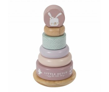 Little Dutch Holz Ring-Stapelturm, pink