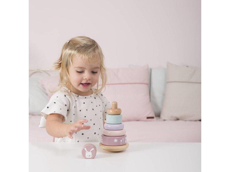 Little Dutch Holz Ring-Stapelturm, pink