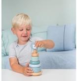 Little Dutch Holz Ring-Stapelturm, blau
