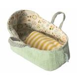 "Maileg Mäuse  Babytragetasche ""Carry cot"" mint, my"