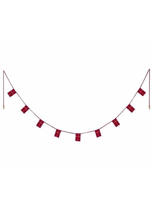 """Maileg Girlande """"dänische Flagge"""" rot, mit Schachtel"""