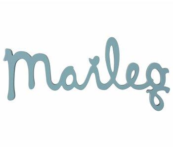 "Maileg Holz Logo ""Maileg"" petrol"