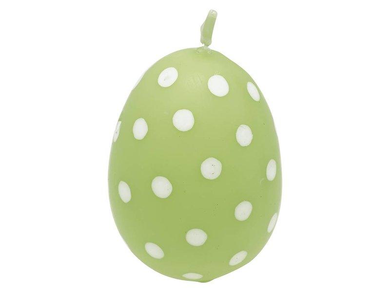 """GreenGate Kerze """"Osterei"""" Spot pale green"""