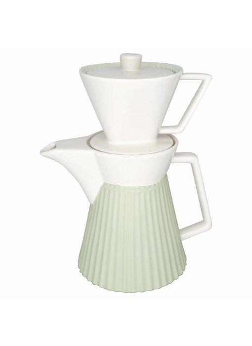 """GreenGate Kaffeekanne mit Filter """"Alice"""" pale green"""