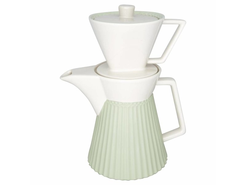 "GreenGate Kaffeekanne mit Filter ""Alice"" pale green"