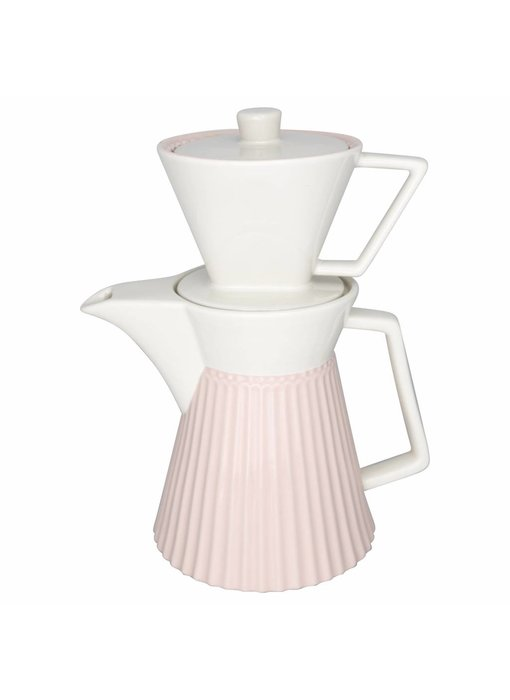 "GreenGate Kaffeekanne mit Filter ""Alice"" pale pink"