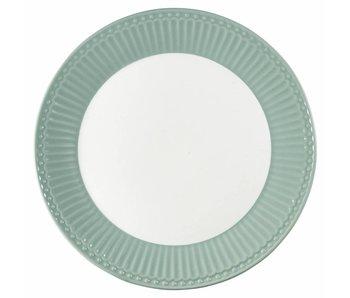 """GreenGate Frühstücksteller """"Plate Alice"""" dusty mint"""