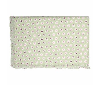 "GreenGate Quilt  ""Bed cover Cherry berry p.green"" 100x140cm"