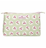 "GreenGate KosmetikmäKosmetikmäppchen ""Cosmetic bag Cherry berry p. green"" largeppchen ""Cosmetic bag Meryl"" white L - Copy"