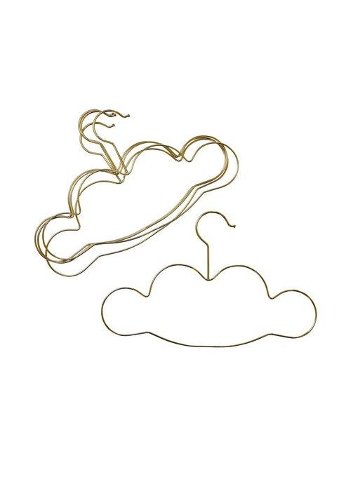 """rice dk 5 Kinder """"Kleiderbügel"""" in Wolkenform, gold"""