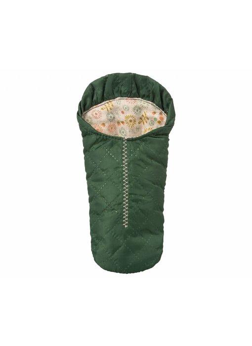 Maileg Mäuse  Schlafsack grün