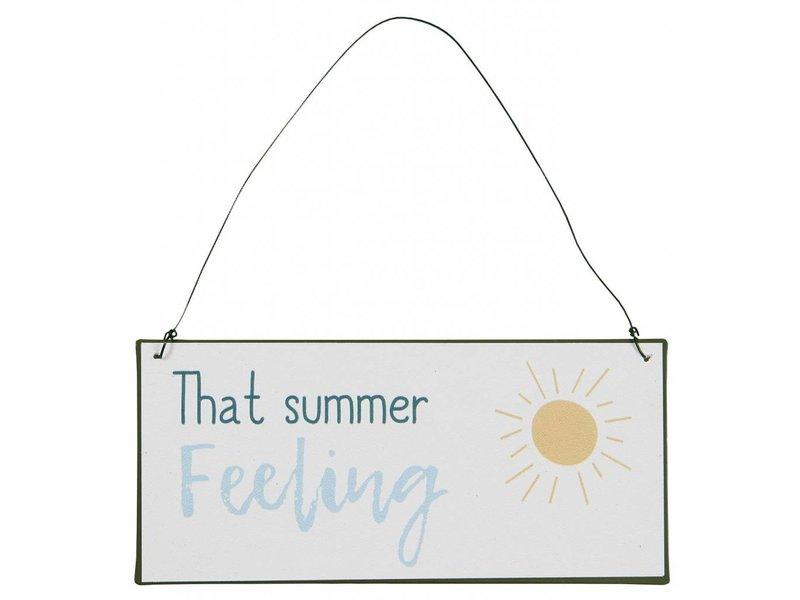"IB LAURSEN Metallschild ""That summer feeling"""
