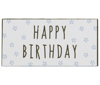 "IB LAURSEN Magnet ""Happy Birthday"" blau"