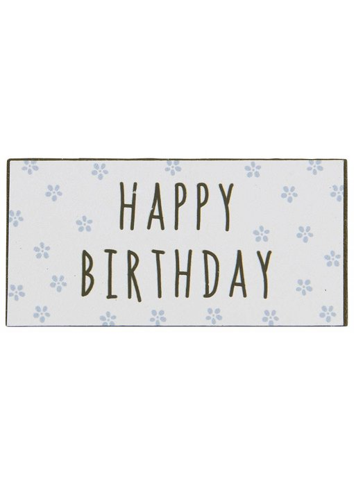 "IB LAURSEN Magnet ""Happy Birthday"" blau"