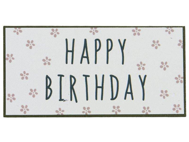 "IB LAURSEN Magnet ""Happy Birthday"" rosa"