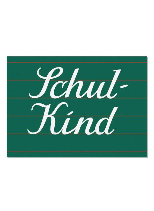 """krima & isa Postkarte """"Schulkind"""""""