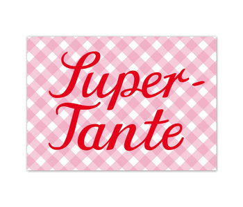 "krima & isa Postkarte ""Super-Tante"""