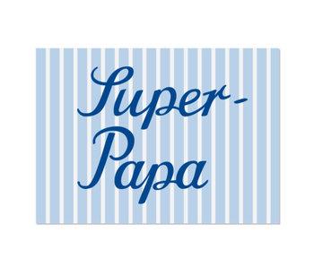 "krima & isa Postkarte ""Super-Papa"""