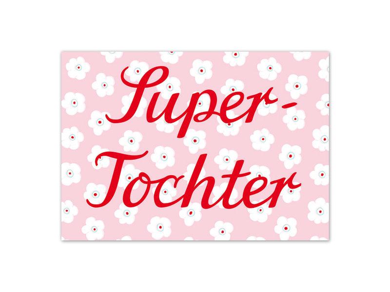 """krima & isa Postkarte """"Super-Tochter"""""""