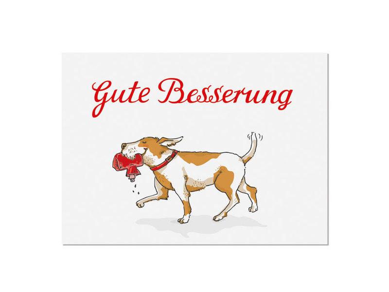 "krima & isa Postkarte ""Gute Besserung"" Hund"