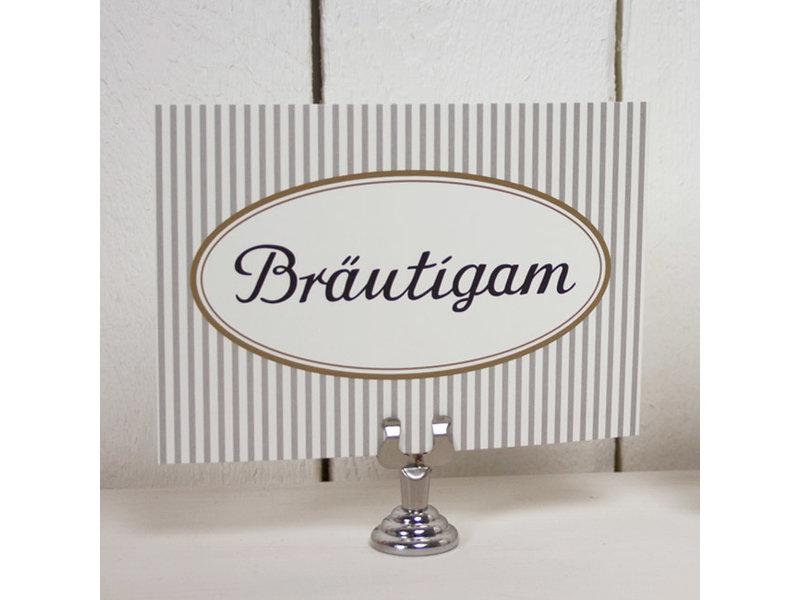 """krima & isa Postkarte """"Bräutigam"""""""