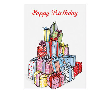 "krima & isa Postkarte ""Happy Birthday"" Geschenkeberg"