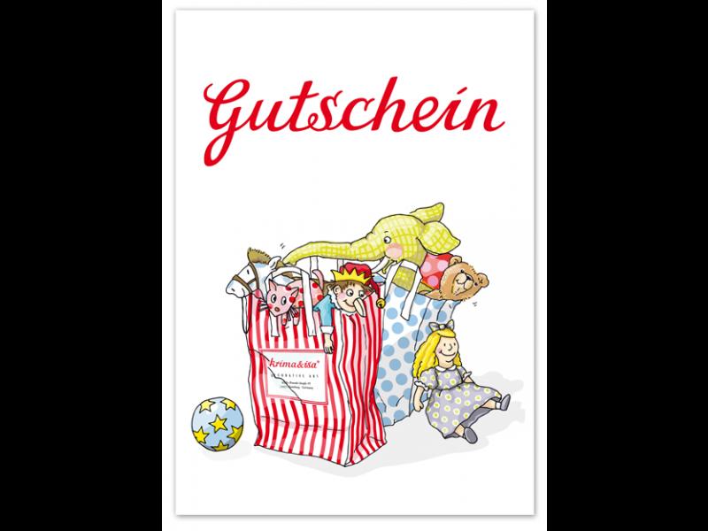 """krima & isa Postkarte """"Gutschein"""" Spielzeug"""