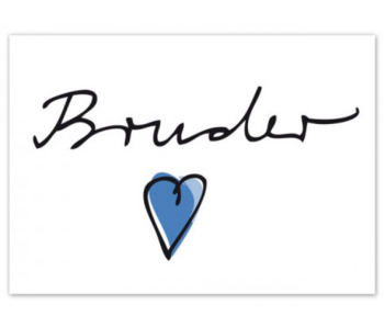 "krima & isa Postkarte ""Bruder ♥"""